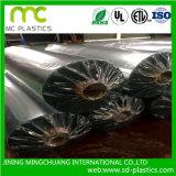 Película desobstruída/transparente Rolls do PVC para o empacotamento ruim dos sacos ou do fundamento da folha