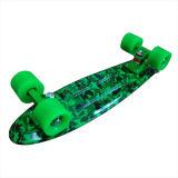 [22ينش] [بّ] 22 بوصة مصغّرة لوح التزلج يتزلّج طرادة كاملة لوح التزلج موز لوح التزلج اللون الأخضر [كمو]