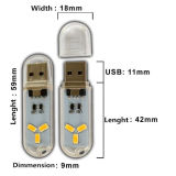 Luz LED USB com LEDs de 1,5W de 120lm 3PCS