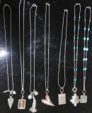Halsband van de Leidraad van de manier de anti-Zilveren & van de Tegenhanger van Parels