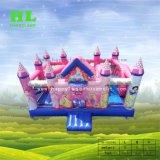 De nieuwe Opblaasbare Uitsmijter Combo van het Kasteel van de Stijl van de Prinses van het Ontwerp Mooie Roze Reuze