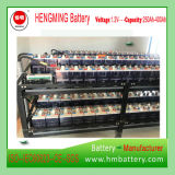 Tipo Pocket batería recargable de Gnz250 48V250ah de la serie de Kpm de la batería de níquel-cadmio (batería Ni-CD 1.2V) del proyecto de Uganda