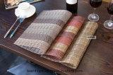 Placemats tissé enduit par PE pour des meubles Furnnture extérieur de jardin de meubles de maison de meubles d'hôtel de couvre-tapis de place de Tablemat de couvre-tapis de Tableau de caboteur de cuvette ignifuge