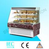 Refrigerador moderno aberto do Showcase do bolo da parte dianteira livre do anúncio publicitário com Ce