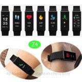 Il commercio all'ingrosso personalizza il braccialetto astuto del Wristband portabile di forma fisica con lo schermo variopinto Z4