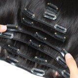 Barata 100% Natural brasileño/Virgen peruana Remy Clip en la extensión de cabello humano.