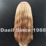Peluca del cordón del pelo humano del 100%