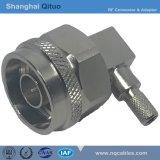 RF Connector NR Male Right Angle Plug Crimp for Syv-50-3u (hexagonal N-JW-C-3 barrel)