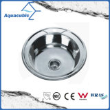 Utensílios de aço inoxidável Taça único pia (ACS4845)