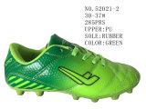 No 52021 футбол ботинок померанцового и зеленого малыша обувает 30-37#