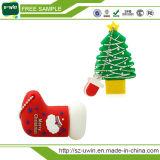 Navidad promoción personalizada de la unidad USB Pen Drive de dibujos animados
