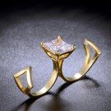 متأخّر مبتكر مجوهرات [18ك] نوع ذهب [كز] اثنان [فينجر رينغ]