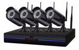 4CH 1.0MP беспроводной IP-Bullet NVR комплект камеры видеонаблюдения для дома