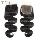 高品質9A Viginのブラジル4*4インチの毛の閉鎖のToupee