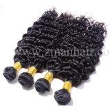 Vague profonde à faible prix Tissage de cheveux humains réels