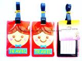 顧客用ロゴPVCシリコーンゴムの荷物袋の札