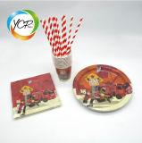Décoration de Noël Parti papier cadeaux promotionnels les plaques de serviette de boire de la paille