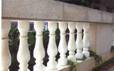 Granit--Geländer