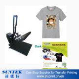 Tamaño A4 de inyección de tinta solvente ecológica Color oscuro Papel de transferencia de calor