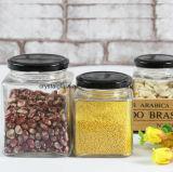 Copo de vidro de alto nível para o mel, compotas, comida, Pickle garrafas de vidro