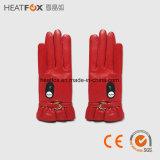 Far-infrared het verwarmen skihandschoen met van het de handschoenenbureau van batterijUSB vuisthandschoenen fingerless verwarmde verwarmde mitts batterij