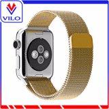 Mejor Venta de 38mm 42mm de acero inoxidable de bucle milanés de la banda de reloj para Apple