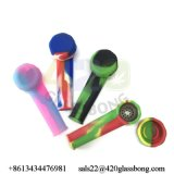 Preiswertes Silikon-Handlöffel-Rohr-rauchendes Wasser-Rohr auf Lager Jls-04