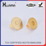 Серебристый цвет магнитные кнопки стопорное застежками для дамской сумочке кошельки сумки