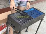 Il carbone di legna giapponese può registrare l'altezza del BBQ esterno della griglia del barbecue (grande)