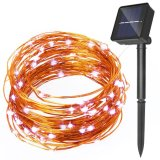 Solarzeichenkette-Licht des kupfernen silbernen Draht-120LEDs
