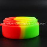 Großverkauf färbt Raum-Behälter des Silikon-7ml zwei für rauchende Zubehör
