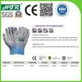 13G anti Vibrasion Hppe resistentes ao corte de malha de fibra de vidro (CE - Luvas de trabalho de segurança Nível de corte 5)