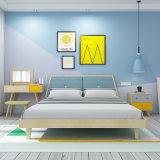 Simple moderna cama de madera nórdica de lavar los muebles del dormitorio