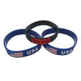 Bracelet en silicone colorées promotionnel /Bande en silicone pour les dons (WB06-C)