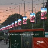 P6 Pôle d'éclairage de rue/Post/pilier/colonne Médias de plein air avec un téléphone intelligent de la conception de l'écran LED