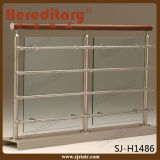 304 roestvrij staal en het Houten Glas van het Traliewerk van de Trede Inoodr (sj-633)