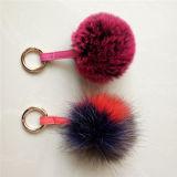 Pompom falso Handmade Keychain della pelliccia dei Pompoms della pelliccia