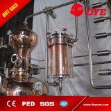Destilería del calor de vapor de la caldera doble para el alcohol con la columna del reflujo