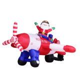 Festa gonfiabile il Babbo Natale di natale del tessuto con la decorazione dell'aereo di aria