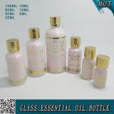5ml, 10ml 15ml 20ml 30ml 50ml, de la luz de 100ml botella de aceite esencial de vidrio de color rosa china