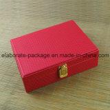 Caixa de presente de madeira gama alta do suporte da jóia da caixa de jóia