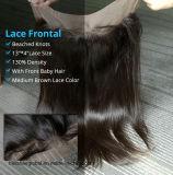 至福の毛13X4のレースのFrontal 3はまたはまたは中間の部分の上のスイスのレースの正面まっすぐなブラジルのバージンの人間の毛髪のFrontalの部分放す