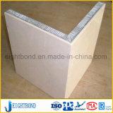 L panneau en aluminium de nid d'abeilles de pierre de marbre de forme pour la décoration de la construction