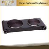 Ce GS A13 Standard haute qualité en acier inoxydable double brûleur plaque de cuisson électrique