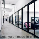 Divisorio di alluminio dell'ufficio di vetro glassato di prezzi razionali