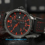 人Fs590のための革が付いている新式の日本水晶腕時計