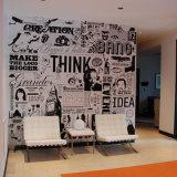 Adornando murales de la pared de las ideas, el gráfico modela el papel pintado impermeable