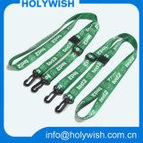 Les cordons de crochet doublés les moins chers avec le logo imprimé Logo en soie Vente en gros