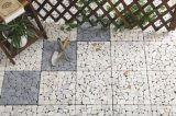 Piso exterior Mosaico Mosaico de travertino de intertravamento de bricolage