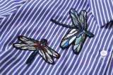 高品質の刺繍の方法長い袖の女性の上のブラウス